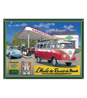 Plaque Huile Yacco et VW