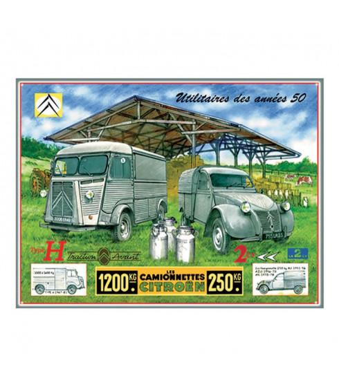 Plaque Citroën HY et AZU