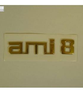 Monogramme Ami 8 doré adhésif