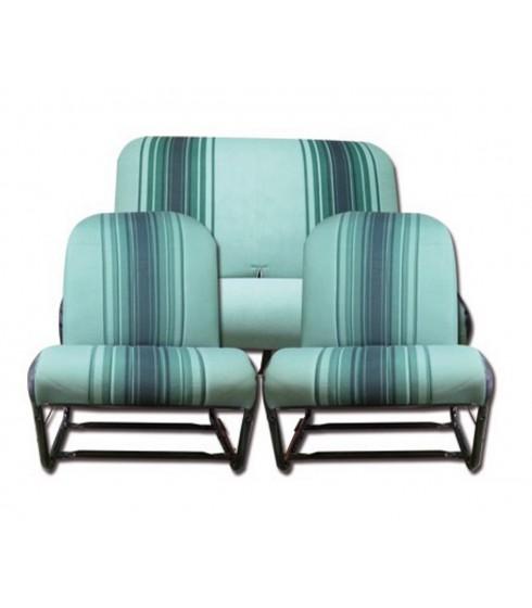 Garnitures vert sièges symétrique 2cv4-2cv6 citroen