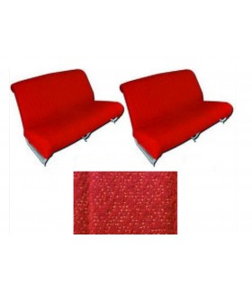 Garnitures banquettes 2cv azam rouge diamenté
