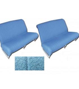 Garnitures banquettes 2cv azam bleu diamenté