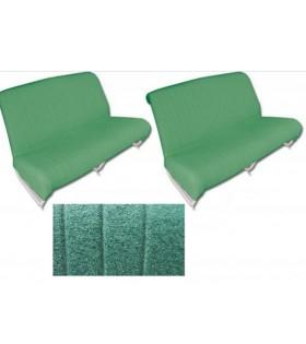 Garnitures banquettes 2cv azam vert diamenté